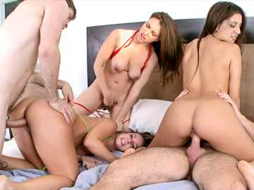 Jada Stevens, Jynx Maze and Miss Rican with huge asses gone crazy