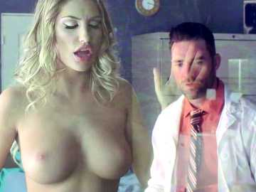 Medical assistant Mr. Dera falls in love with his busty patient August Ames