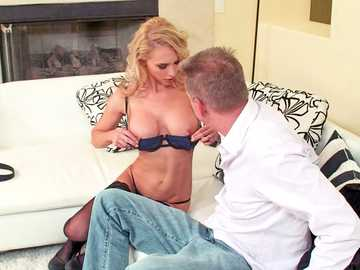 Alix Lynx blows her husband's brother, becoming a real busty cheating wife